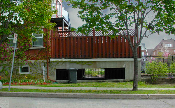 Invisible individual parking under a deck
