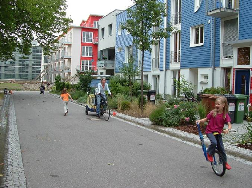 Children are the most frequent occupants of streets followe by adults. Cars are rare and transient.