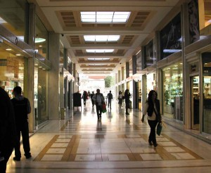 "Figure 8.  ""Stoa""  -  A through-the-building arcade that connects two parallel streets."