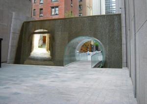 New York and Siena through the block passage